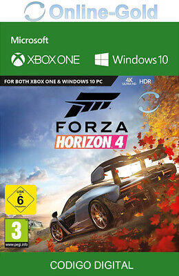 Forza Horizon 4 Xbox One & Windows 10 PC - codigo digital juego de carreras - ES