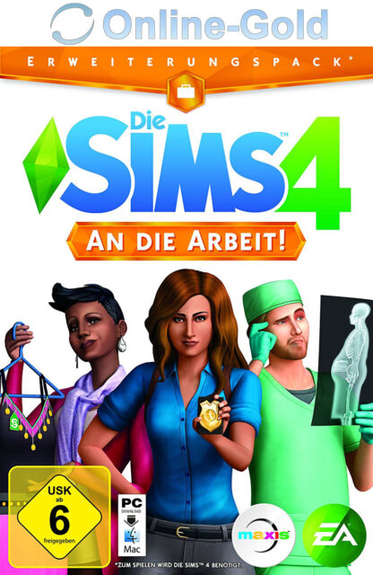 Die Sims 4 An die Arbeit Key - The Sims 4 Get to Work Addon DLC EA ORIGIN PC EU