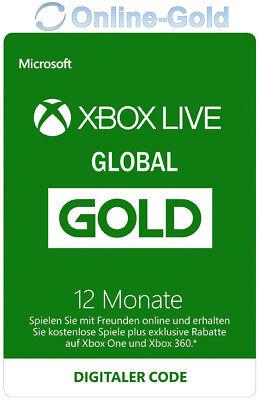 12 Monate XBOX Live Gold Mitgliedschaft Code Microsoft ONE 360 - GLOBAL VERSION (Xbox Live 12 Monat)