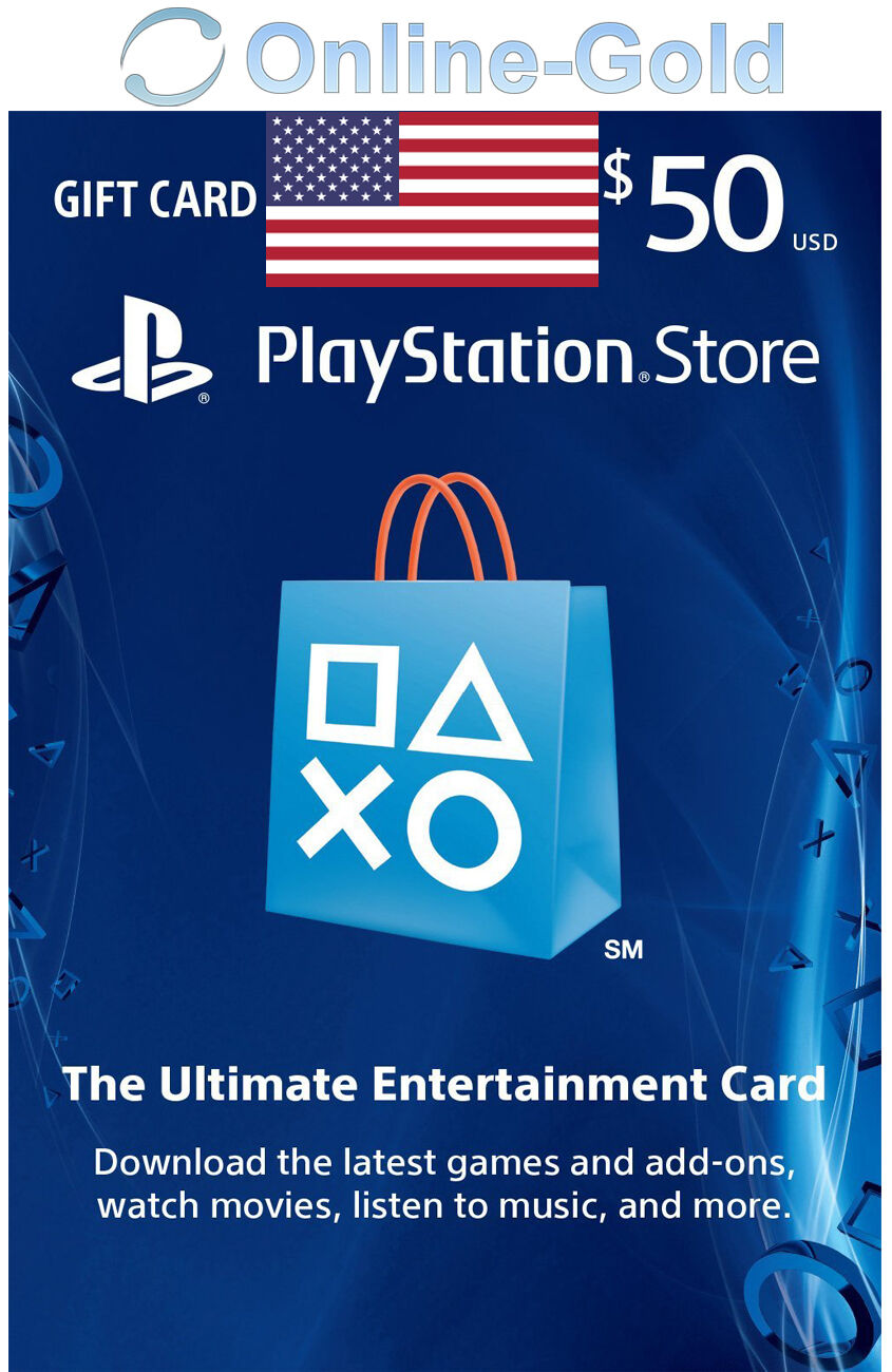 $50 USD PlayStation Network Gift Card - PSN 50 US Dollar USA Store - PS4 PS3 PSV