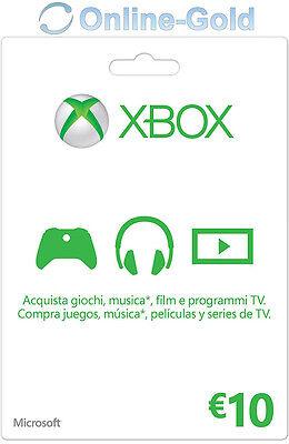Xbox Live Tarjeta Regalo 10 Euro - Microsoft Xbox 360 One €10...