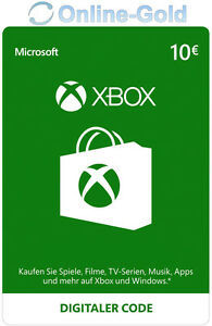 Xbox-Live-Card-10-euros-Microsoft-haberes-MS-Xbox-360-Xbox-One-Live-Card