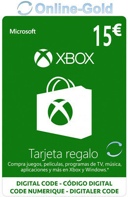 €15 Xbox Live Tarjeta Regalo 15 Euro - Microsoft Xbox 360 One...