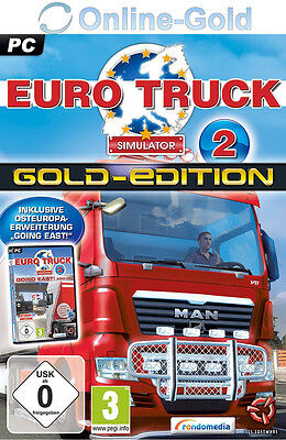 Euro Truck Simulator 2 II Gold Edition -  Steam Code - PC Spiel Key ETS2 [DE/EU] (Truck Simulator Pc Spiele)