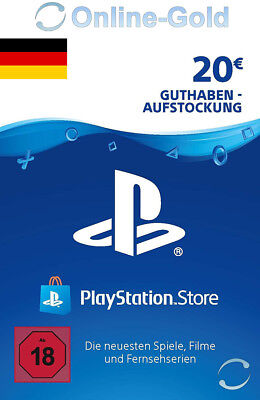PSN Network Card 20 Euro PS3 PS4 PS Vita PlayStation Gift Prepaid Code 20€ - DE
