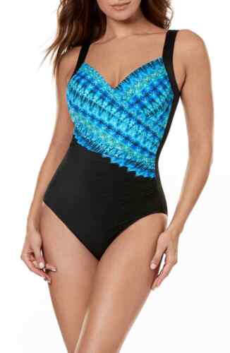 New Miraclesuit Cabana Chic Sanibel One-Piece Swimsuit Size 10