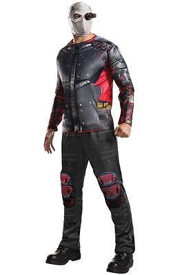 Halloween Costumes Deluxe (Suicide Squad Deluxe Deadshot Adult Halloween Costume, with Mask Pants Eyepiece)