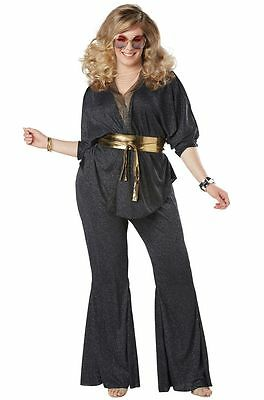 Saturday Night Fever Sexy Disco Dazzler 70's Plus Size Costume](Plus Size Disco Costume)