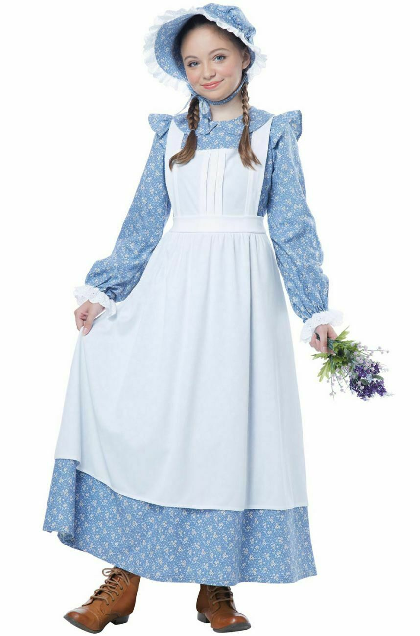 Western Frontier Cowboy Prairie Pioneer Girl Child Costume