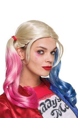 Suicide Squad Harley Quinn Halloween Costume Wig and Makeup Kit Combo, Save - Halloween Costume And Makeup