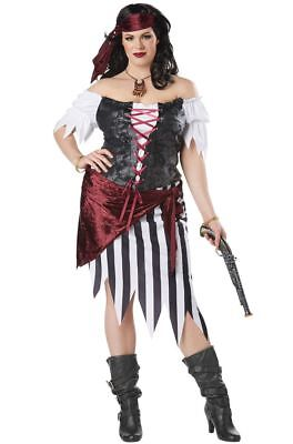 Pirate Beauty Adult Women Plus Size Costume  (Plus Size Ladies Pirate Costume)