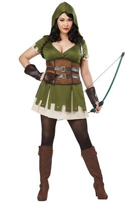 Lady Robin Hood Women Plus Size Costume (Plus Size Robin Hood Costume)