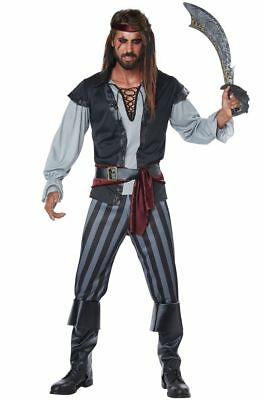 Mens Plus Size Pirate Costume (Scallywag Cutthroat Pirate Buccaneer Adult Men Plus Size)