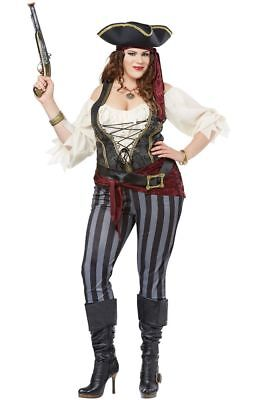 Brazen Buccaneer Pirate Women Plus Size Costume (Plus Size Ladies Pirate Costume)