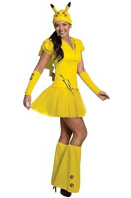 Pokemon Pikachu Women's Costume Dress, Pokemon Go, FREE SHIPPING! (Go Costumes)