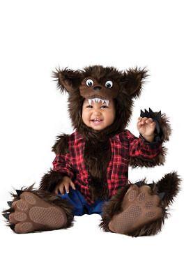 Incharacter Wee Werwolf Pelzig Flanell Tier Kleinkinder Baby Halloween - Kleinkind Werwolf Kostüm