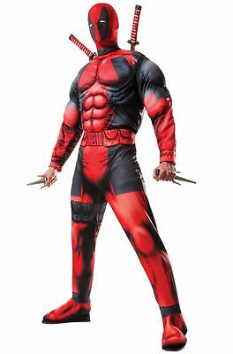 Deluxe Deadpool 2 Adult Halloween Costume & Mask,Priority Mail 1-3 Day DELIVERY!