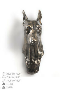 Miniature pincher dog statuette to hang on the wall, Art Dog , CA - <span itemprop='availableAtOrFrom'>Zary, Polska</span> - Miniature pincher dog statuette to hang on the wall, Art Dog , CA - Zary, Polska