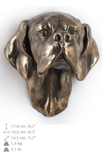 Pointer, dog statuette to hang on the wall, Art Dog Limited Edition, USA