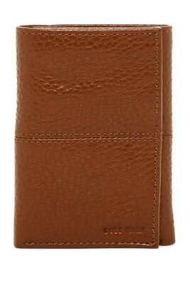 NEW Cole Haan 'Pebble Leather Trifold Wallet'  Color:British Tan,  Retail $88!!!