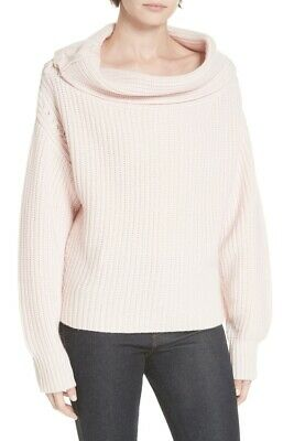 Equipment Ruth Wool Cashmere Shaker Sweater in Pink - Size 2XS #S0074