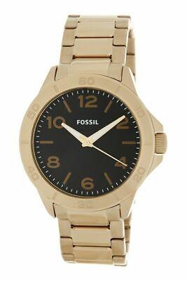 Fossil Modern Century bq2332 Herren Schwarz Zifferblatt Gold Edelstahl Band Uhr