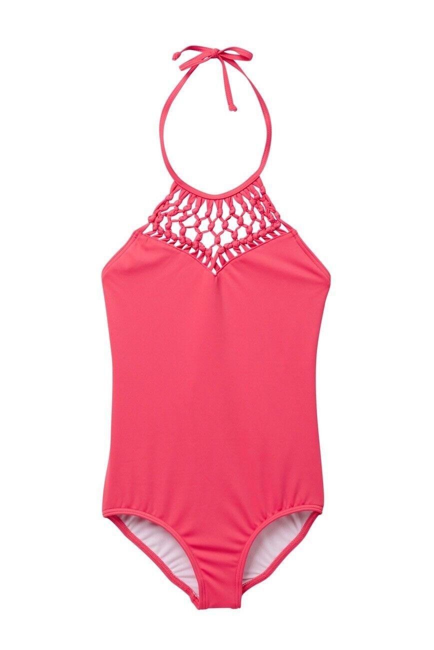 Billabong Mädchen 6x 1 Pc Bikini Badeanzug Makramee Madness Pink Passionsfrucht