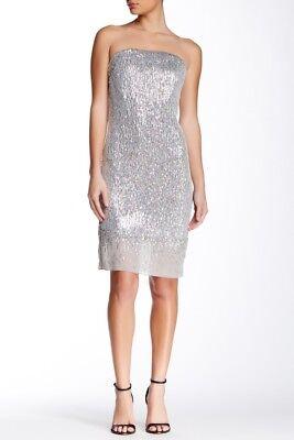 rapless Dress Belmont Cocktail Silver $398 (Silvester Cocktails)