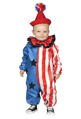 Happy Circus Clown Toddler Costume - Clown Toddler Costume
