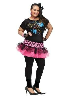 80's 80s Pop Party Cyndi Lauper Madonna Plus Size Adult Costume, 16W-20W](80s Costume Plus Size)