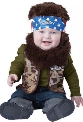 Duck Dynasty Baby Infant Costume Willie (Brown Beard & Bandana) - 0+