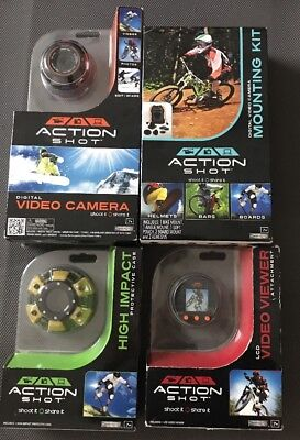 Action Shot Digital Video Camera, LCD Viewer Attachment, Case And Mounting Kit