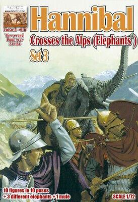 "1:72 FIGUREN 016 Hannibal Crosses the Alps Set 3 ""ELEPHANTS"" - LINEAR-A NEU"