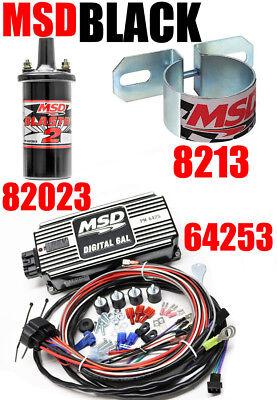Msd 6al Ignition - MSD 6AL Ignition Kit Digital 64253 Blaster 2 Coil 82023 Mounting Bracket 8213