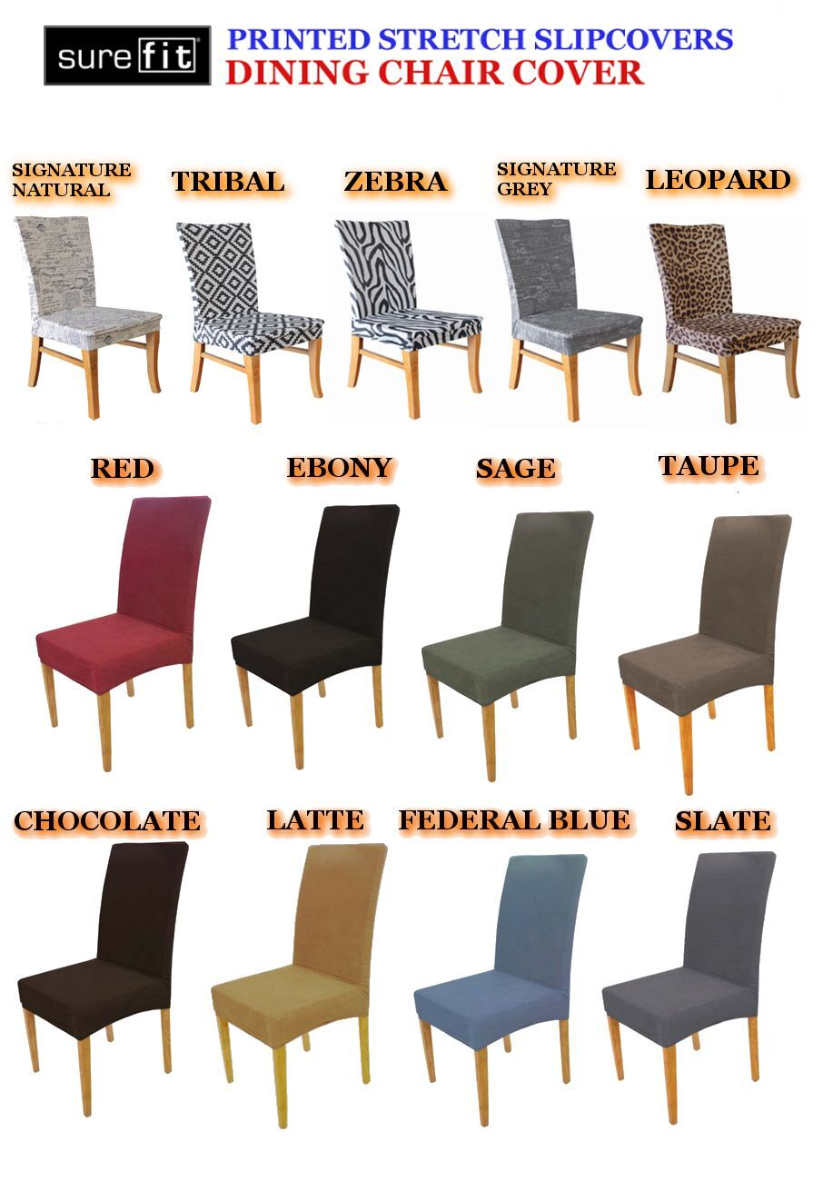 Zebra Chair - Surefit Stretch Printed Dining Chair Covers In ...