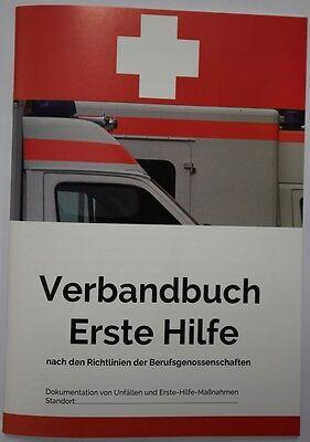 Verbandbuch DIN A 5 Verbandsbuch BGV A5 §16 Erste Hilfe Buch 40Seiten Ersthelfer