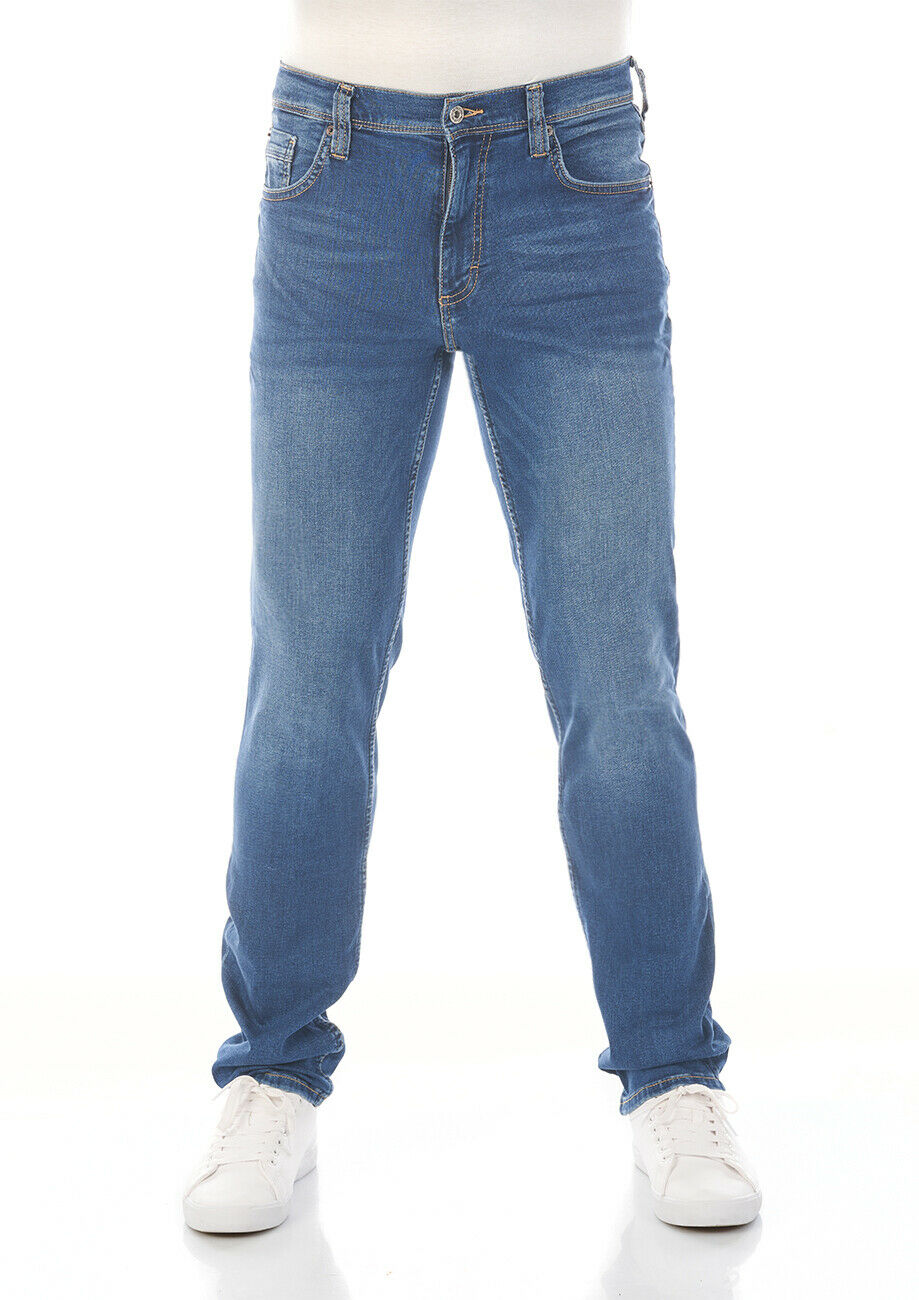 Mustang Herren Jeans Washington - Slim Fit - Blau - Medium Blue  W30-W48 Cotton