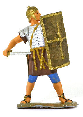 Starlux Roman Legionnaire Defending with Sword - 60mm painted soldier (Toy Roman Sword)