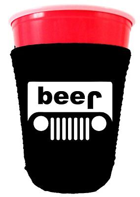 Coolie Junction Beer Truck Funny Solo Cup Coolie, Neoprene, Choose Color