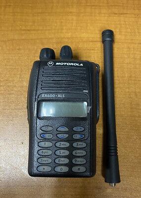 Motorola Ex600 Xls Two Way Vhf Radio W Battery - Model Aah38kdh9du6an