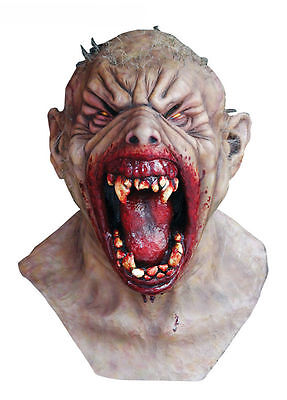 FARKASZ VAMPIRE SCARY HEAD AND NECK MASK HALLOWEEN HORROR Officially by Ghoulish