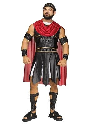 Roman Soldier Costumes (Roman Gladiator Warrior Soldier Adult Costume, Standard)