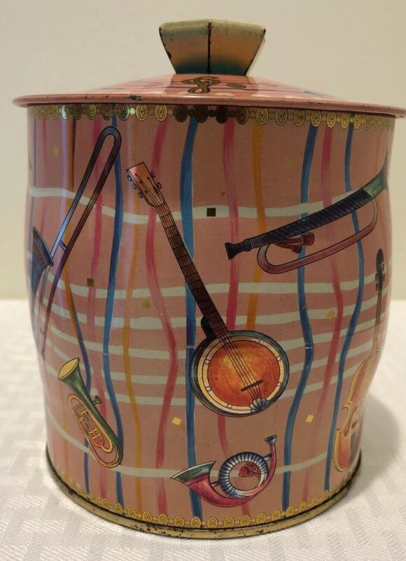 Vintage Baret Ware 66/TB 51 Tin Canister Musical Themed Made In England