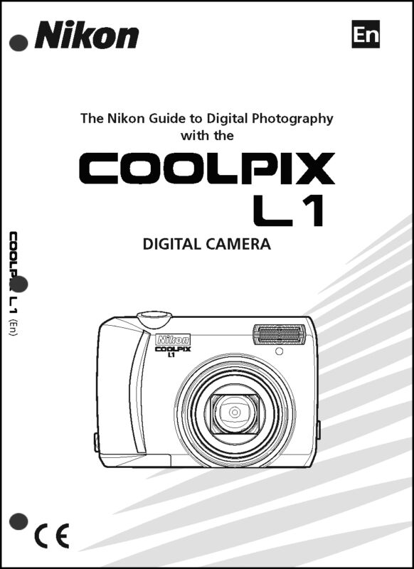 Nikon CoolPix L1 Digital Camera User Guide Instruction  Manual