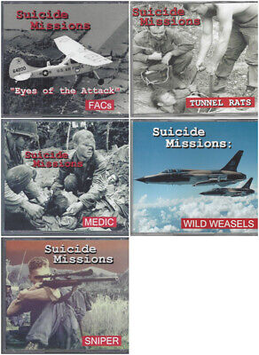 SUICIDE MISSIONS 5-DVD SET - THE MOST DANGEROUS, HIGH-RISK JOBS IN VIETNAM WAR