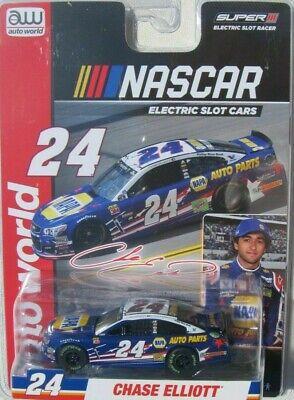 AUTO WORLD NASCAR SERIES SLOT CARS CHASE ELLIOTT #24 NAPA SUPER III & AFX Rel 4