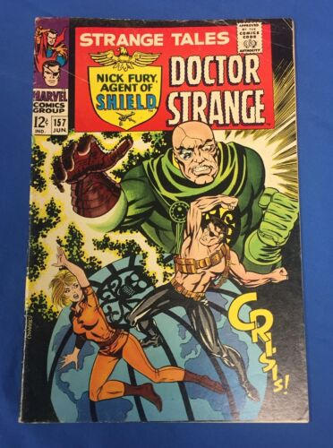 STRANGE TALES #157 : NICK FURY, DOCTOR STRANGE : LIVING TRIBUNAL : MARVEL 1967