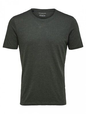 Selected Herren T-Shirt SSLHTHEPERFECT TWIST SS O-NECK TEE B - Twist Neck Tee