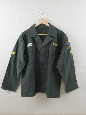 Elvis Jacke (US ARMY Fatigue Hemd Elvis Presley Shirt Jacke Vietnam Uniform Spearhead GI)