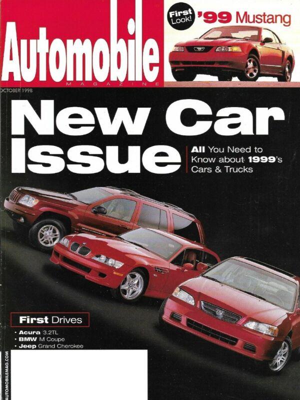 AUTOMOBILE 1998 OCT - AUDI TT, BMW M-COUPE, 3.2TL
